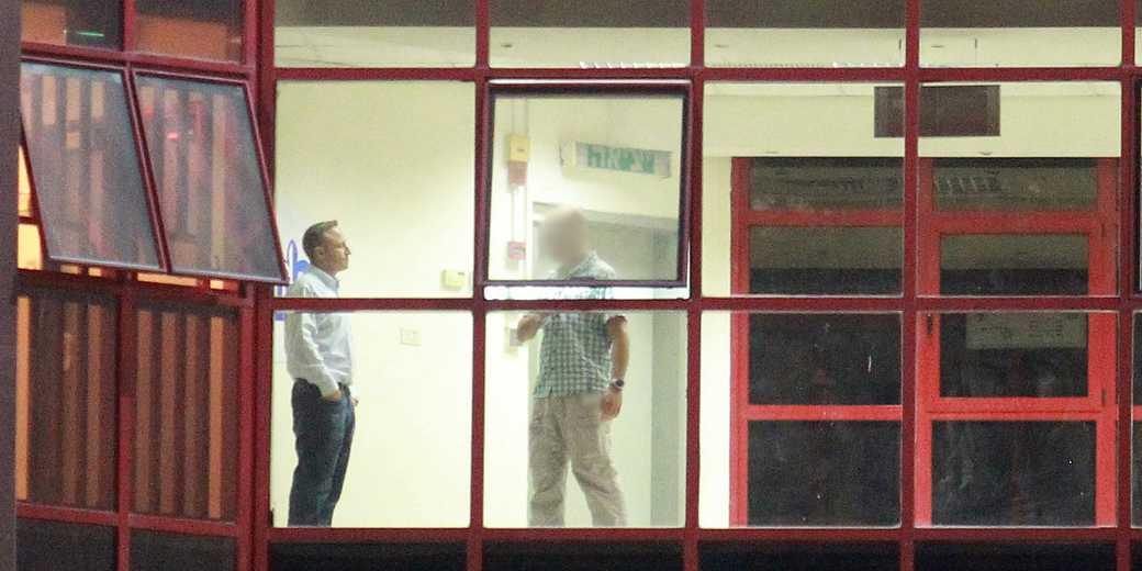 Ари Аро в здании следственной группы ЛАХАВ 433. Фото: Илан Эсаяг