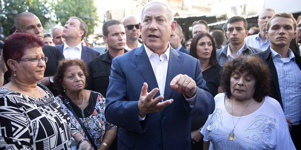 Биньямин Нетаниягу на встрече с жителями Южного Тель-Авива. Фото: Моти Мильрод