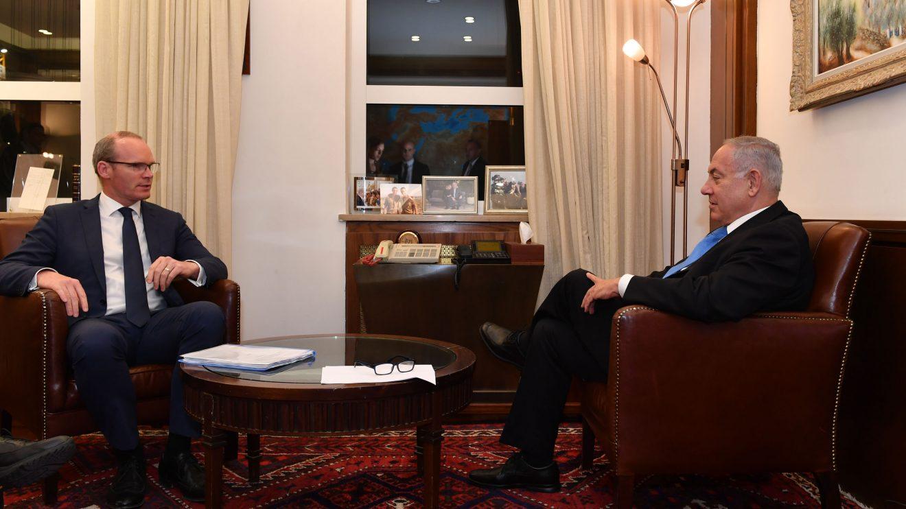 פגישת ראש הממשלה בנימין נתניהו עם שר החוץ של אירלנד סיימון קובני Simon Coveney Photo by Kobi Gideon / GPO