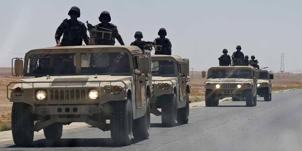 Иорданские войска патрулируют иракскую границу. Фото: Muhammad Hamed, Reuters