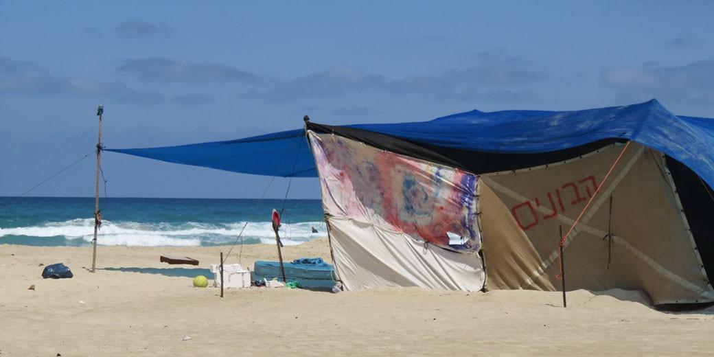 ים חוף הים אוהל אוהלים
