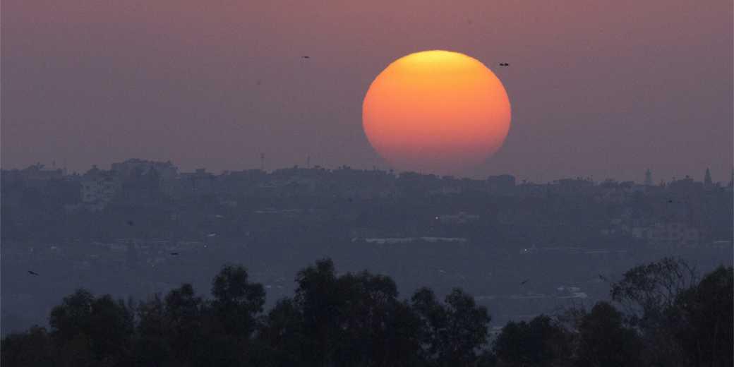 413162_Gaza_Region_Otef_Aza_sunset_Elyahu_Hershkovich