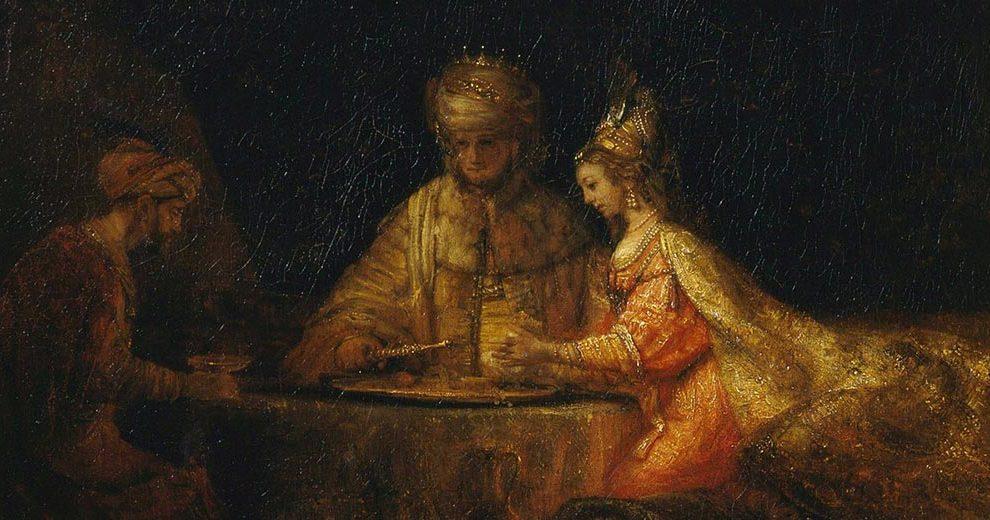Rembrandt_Harmensz_van_Rijn_Ahasuerus_Haman_and_Esther_Pushkin_Museum_Wikipedia_Public_Domain