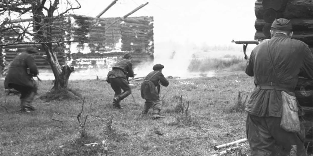 Partisans_attack_village_Wikipedia_public_domain