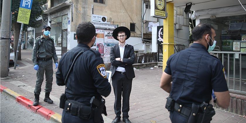 539258_Corona_Religious_Bnei Brak_Police_Moti_Milrod