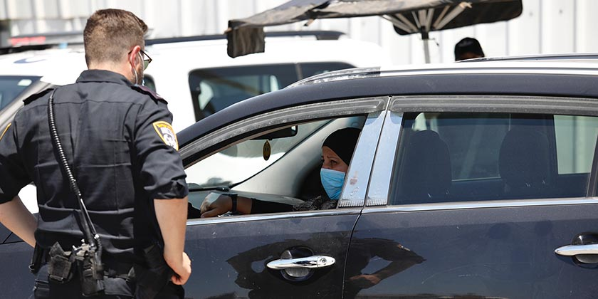 561090_Corona_Police_arab_Meged_Gozani
