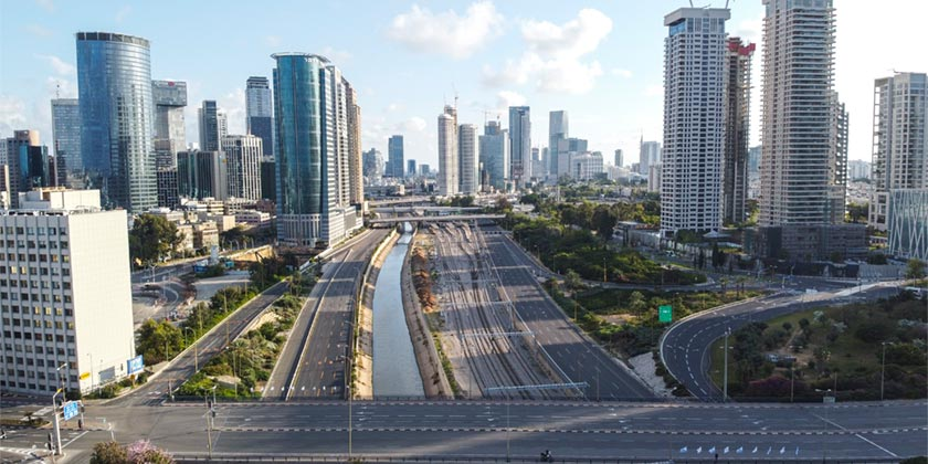 574102 Tel Aviv_Corona_lockdown_Ofer Vaknin