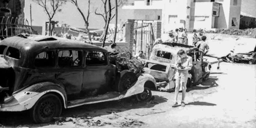 Tel Aviv Bombing Italians 1940 Damien Parer