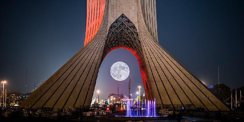 Tehran_Azadi Tower_Full moon_Wiki
