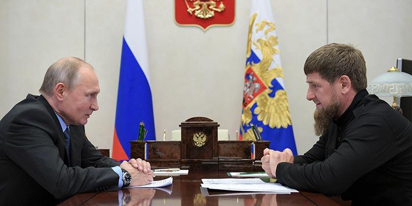 Putin_Cadyrov_Alexei Druzhinin Sputnik Kremlin Pool Photo via AP