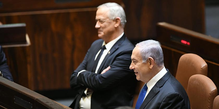 553049_Gantz_Netanyahu_Amos_Ben_Gershom_GPO