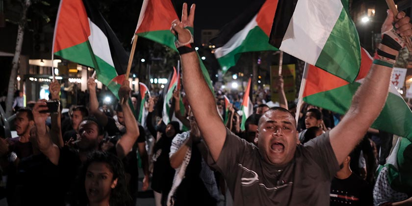 393013_Arabs_Flag)Demo_Nation_State_Law_Tomer_Appelbaum