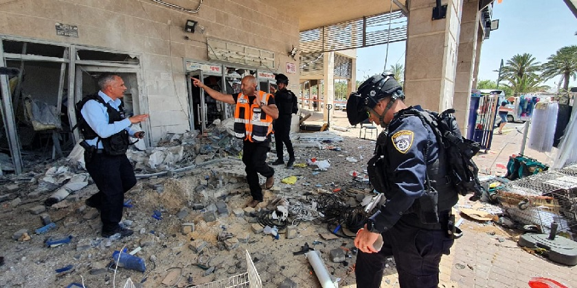 Ashkelon Raketa Gaza Police