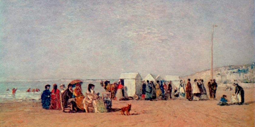 Eugène_Boudin_La Plage de Trouville (1868)