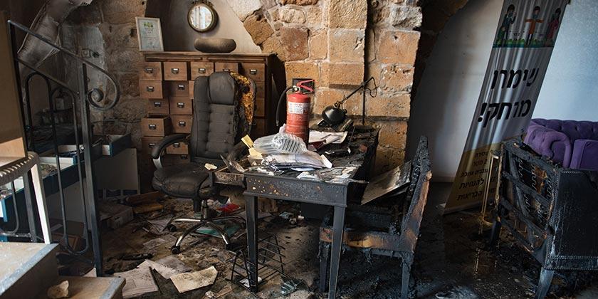 Отель Efendy после пожара. Фото: Рами Шлуш