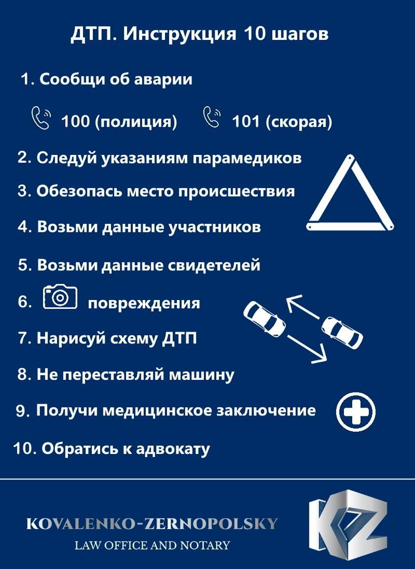 Инструкция: что делать в случае ДТП