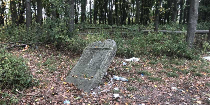 Заброшенное еврейское кладбище в г. Пяски. Фото: Мария Лекух