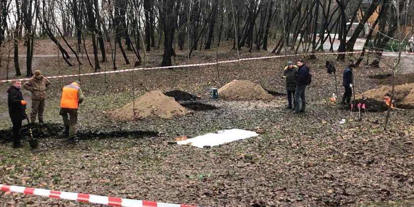 Раскопки на территории православного кладбища. Фото: Андрей Семидидько